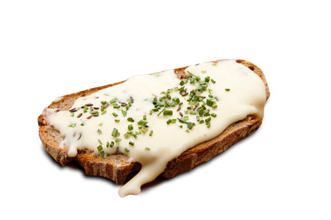 Rührei mit Brot